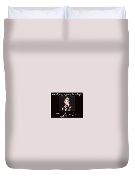 Autographed Portrait  Duvet Cover by Laura Michelle Corbin
