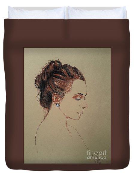 Autoportrait Maja Sokolowska Duvet Cover by Maja Sokolowska