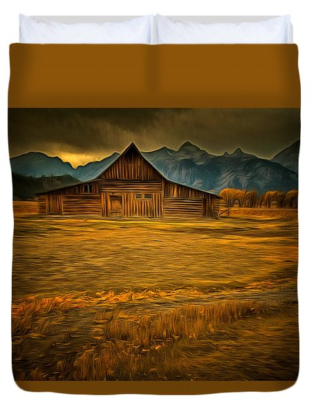 Autum At The Moulton Barn Duvet Cover