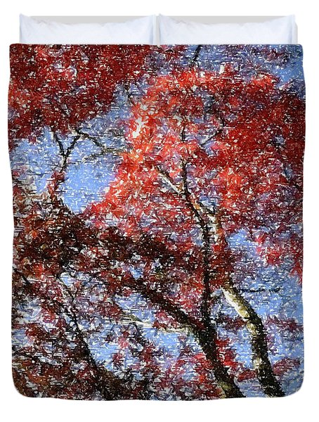 Autum Trees Illustrated Duvet Cover