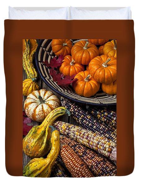 Autumn Abundance Duvet Cover by Garry Gay