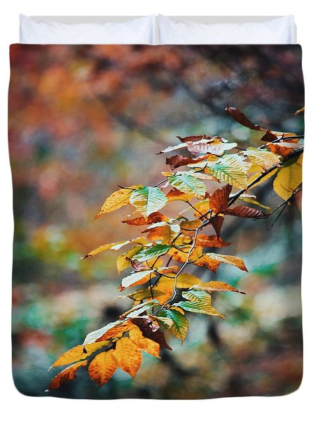 Duvet Cover featuring the photograph Autumn Aesthetics by Parker Cunningham