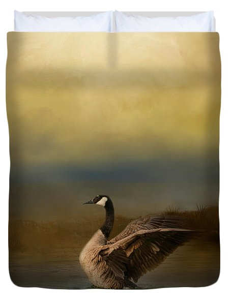 Autumn Afternoon Splash Duvet Cover by Jai Johnson
