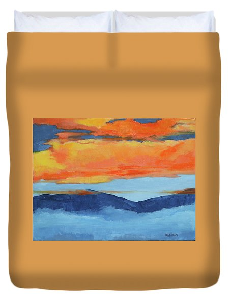 Autumn Alpenglow Duvet Cover