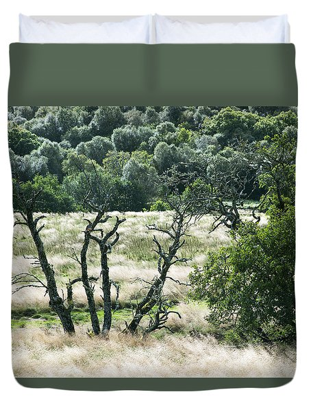 Autumn And Grass In Isle Of Skye, Uk Duvet Cover