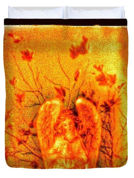 Autumn Angel Duvet Cover