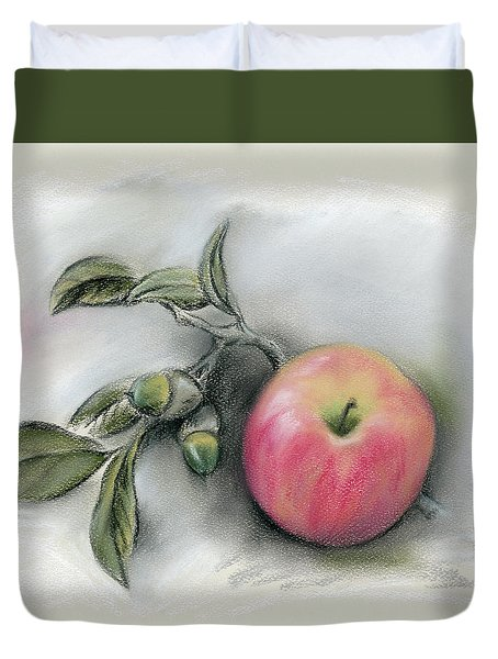 Autumn Apple And Acorns Duvet Cover