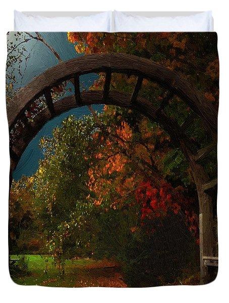 Autumn Archway Duvet Cover