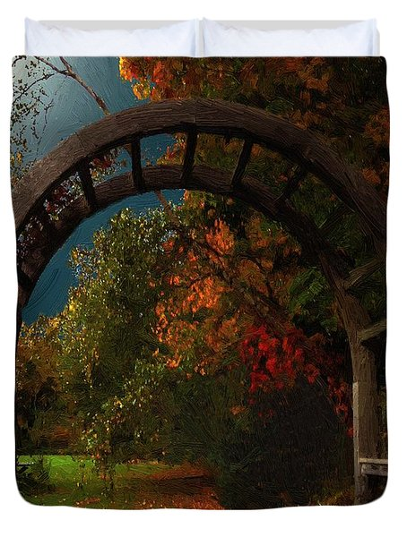 Autumn Archway Duvet Cover