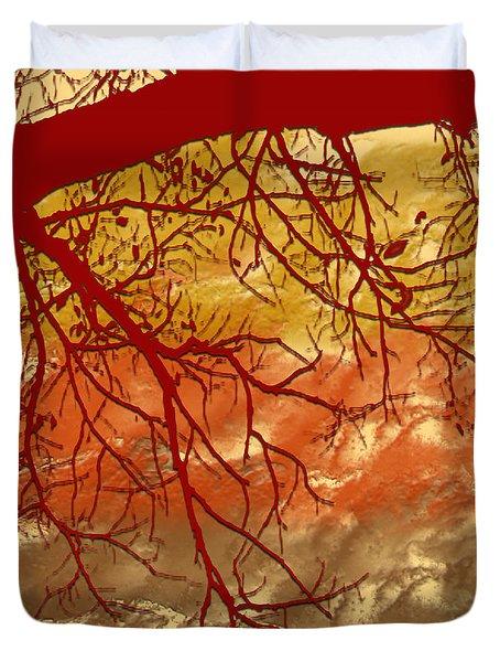 Duvet Cover featuring the digital art Autumn Art by Milena Ilieva