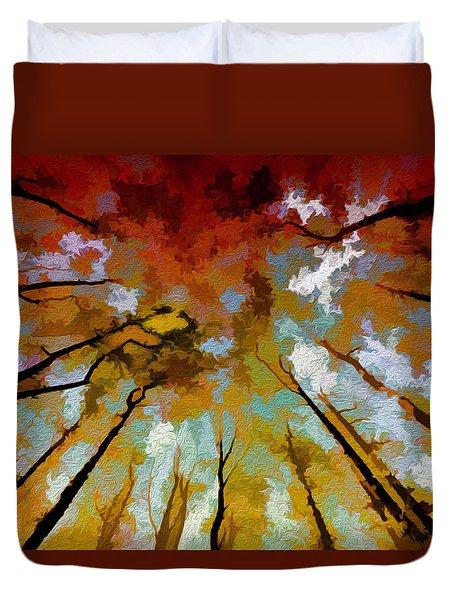 Autumn Ascent Duvet Cover