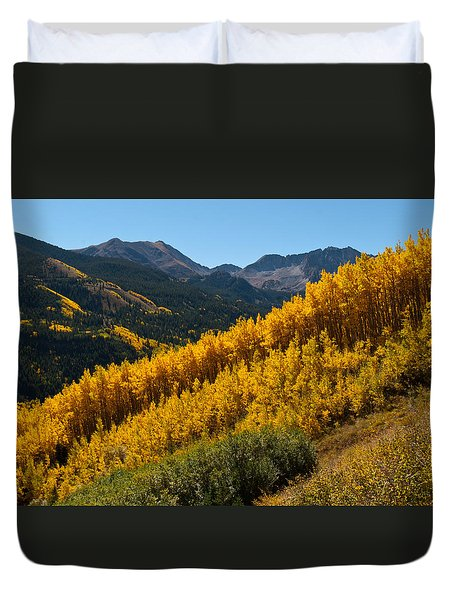 Autumn Aspen Near Castle Creek Duvet Cover