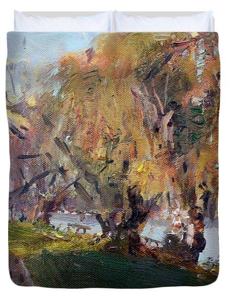 Autumn At Chautauqua Lake  Duvet Cover