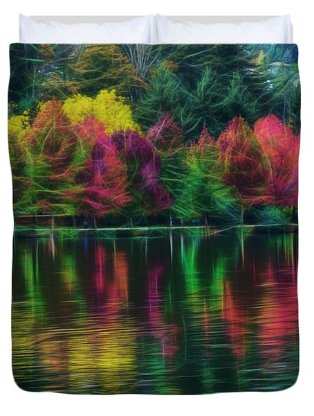 Autumn At Green Lake Seattle Duvet Cover
