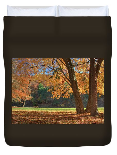 Autumn At Lykens Glen Duvet Cover