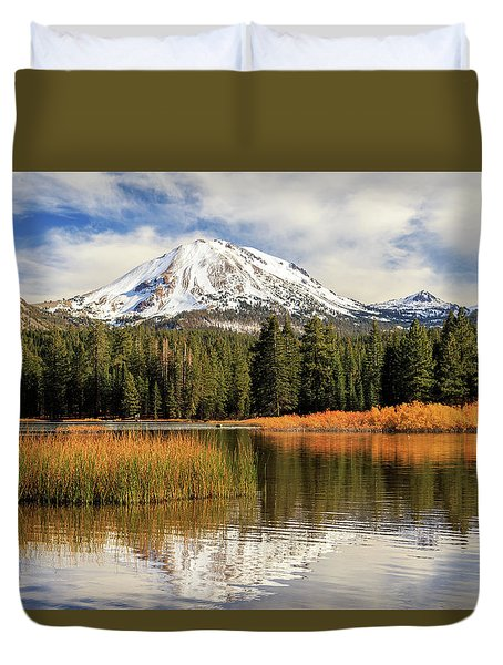 Duvet Cover featuring the photograph Autumn At Mount Lassen by James Eddy