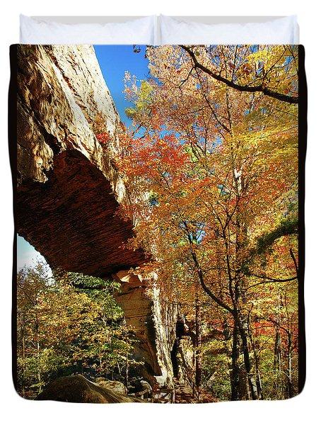 Autumn At Natural Bridge State Resort Duvet Cover