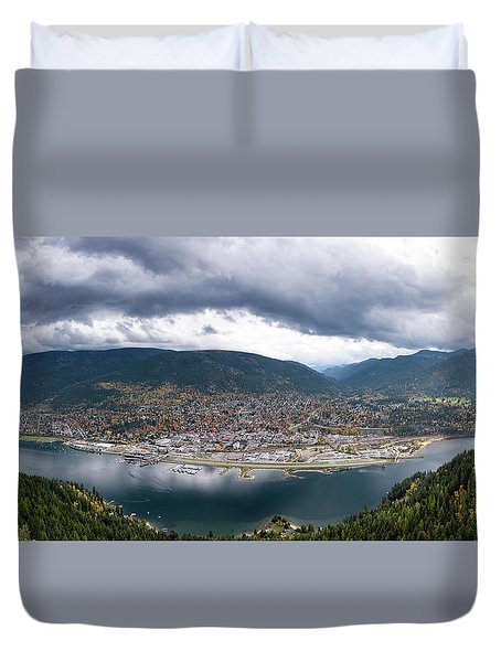 Autumn At Nelson Duvet Cover