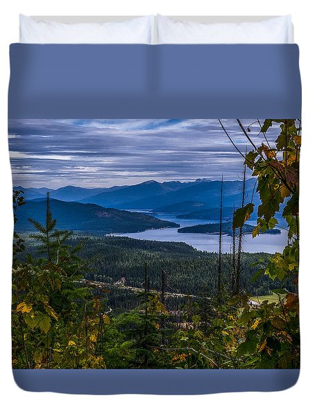 Autumn At Priest Lake Duvet Cover by Yeates Photography