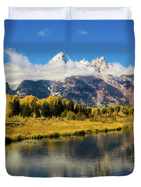 Autumn At Schwabacher's Landing Duvet Cover