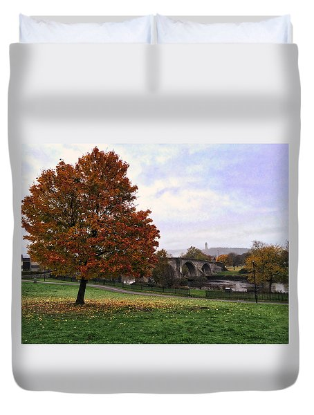 Autumn At Stirling Bridge Duvet Cover