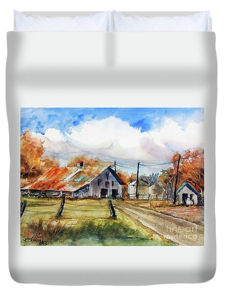Autumn At The Farm Duvet Cover
