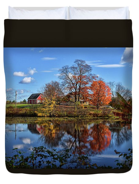 Autumn At The Farm Duvet Cover by Tricia Marchlik