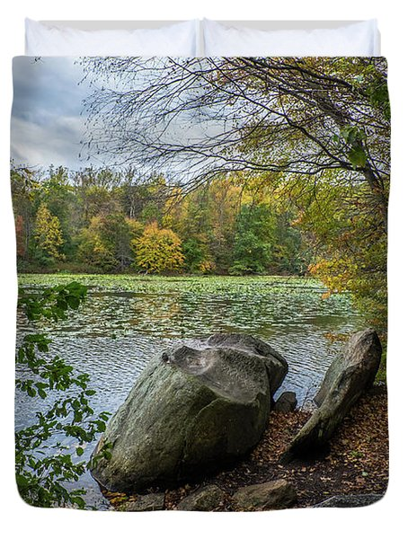 Autumn At The Lake Duvet Cover