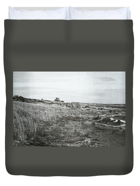Duvet Cover featuring the photograph Autumn At The Mouth Of The Big Sable 2.0 by Michelle Calkins