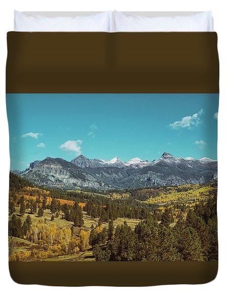Autumn At The Weminuche Bells Duvet Cover