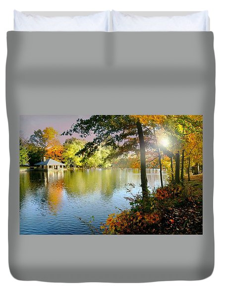 Autumn At Tilley Pond Duvet Cover