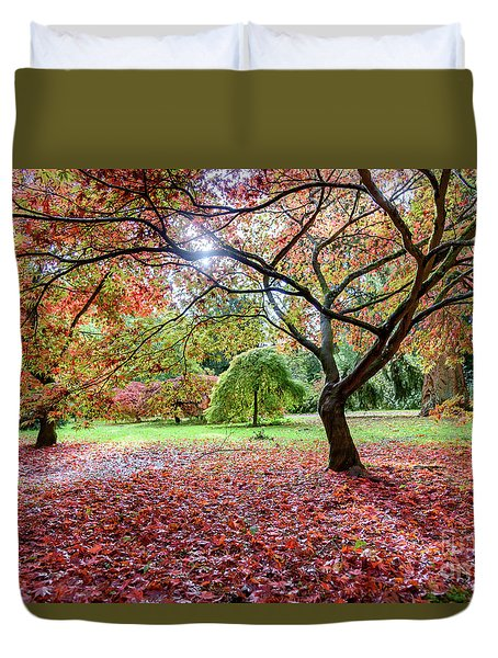 Autumn At Westonbirt Arboretum Duvet Cover
