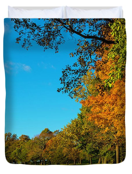 Autumn At World's End Duvet Cover