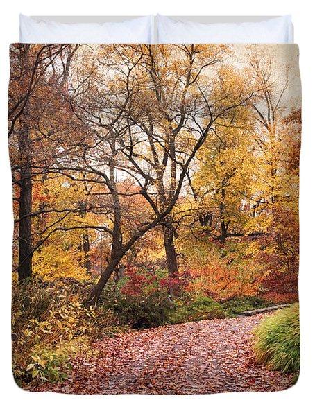 Autumn Azalea Garden Duvet Cover