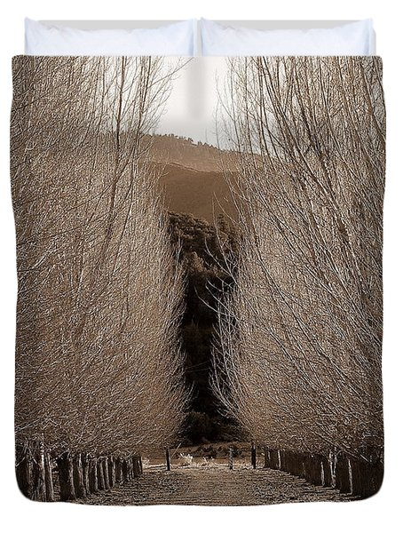 Autumn Bares Her Trees Duvet Cover