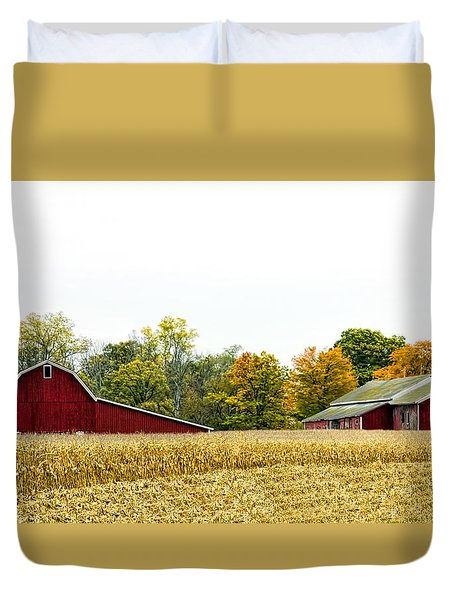 Autumn Barns Duvet Cover by Pat Cook