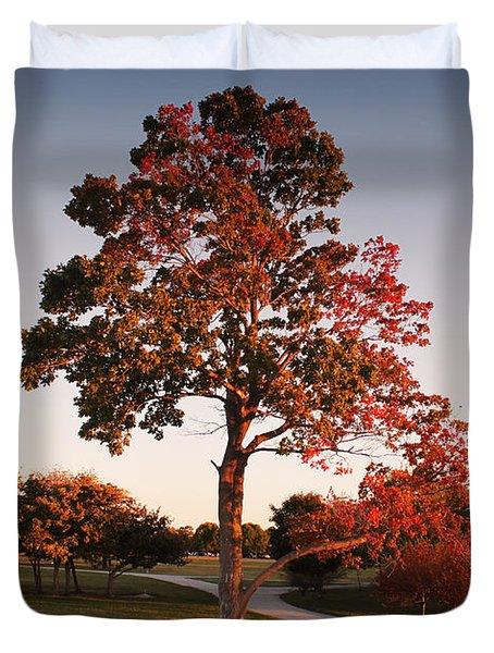Duvet Cover featuring the photograph Autumn Beauty by Milena Ilieva