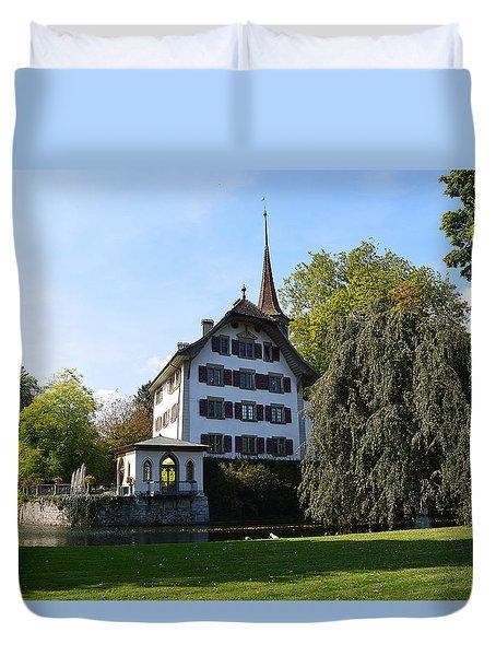 Castle In September Duvet Cover by Felicia Tica