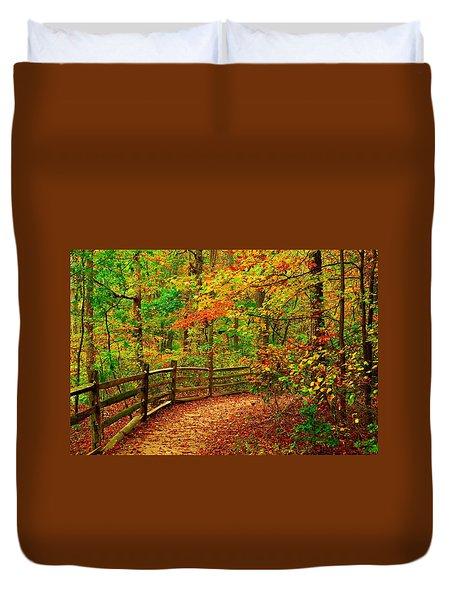 Autumn Bend - Allaire State Park Duvet Cover