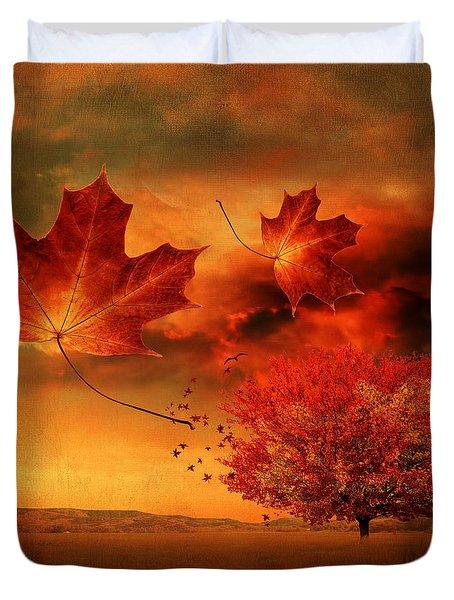 Autumn Blaze Duvet Cover by Lourry Legarde