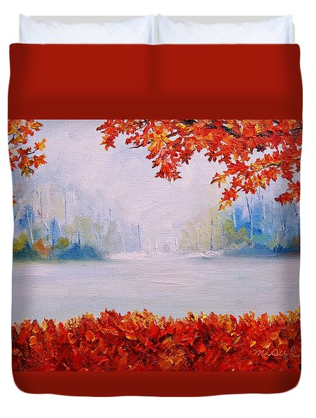 Autumn Blaze Maple Trees Duvet Cover