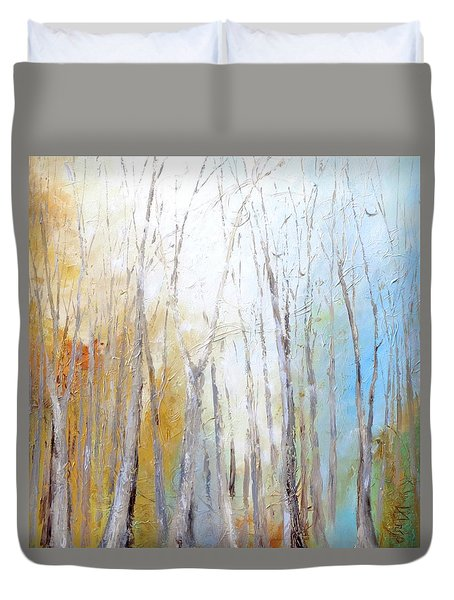 Duvet Cover featuring the painting Autumn Bliss by Dina Dargo