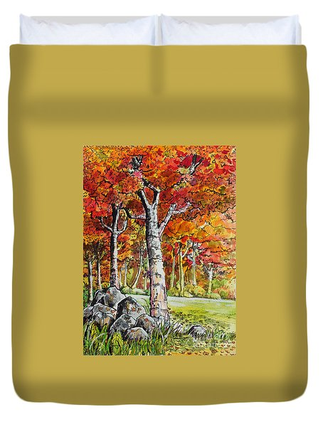 Autumn Bloom Duvet Cover by Terry Banderas