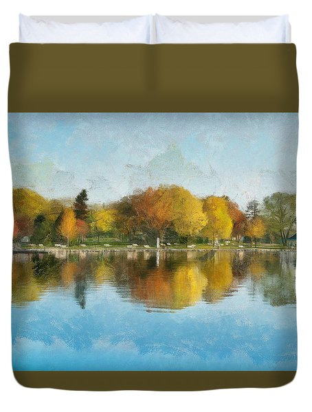 Autumn Blues Duvet Cover