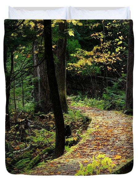 Autumn Boardwalk Duvet Cover