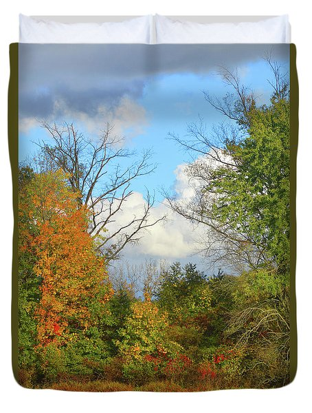 Autumn Breeze Nature Art Duvet Cover by Robyn King