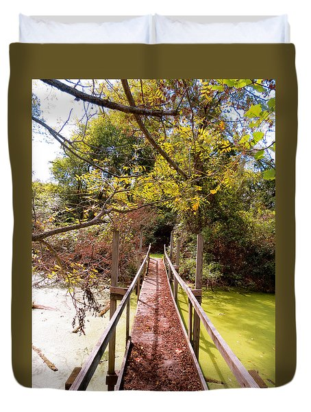 Autumn Bridge Duvet Cover