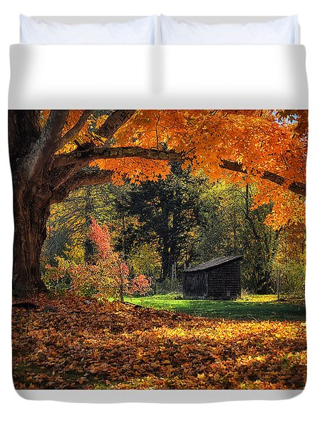 Autumn Brilliance Duvet Cover by Tricia Marchlik