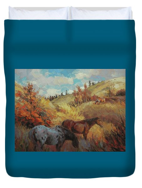 Autumn Browsing Duvet Cover
