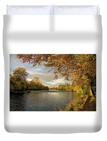 Autumn By The River Ness Duvet Cover